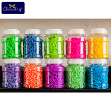 1800pcs Rubber Loom Bands DIY Toys For Children Set Kid Lacing Rainbow Bracelet Silicone Elastic Weave Girl Gifts