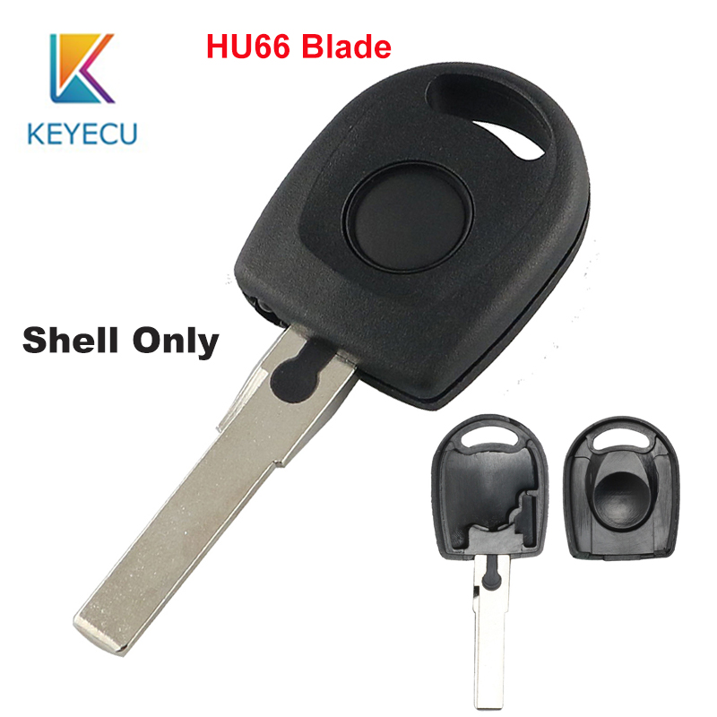 Keyecu Red Replacement Smart Remote Key Shell Case 3 Button for BMW YGOHUF5662 Uncut HU100R