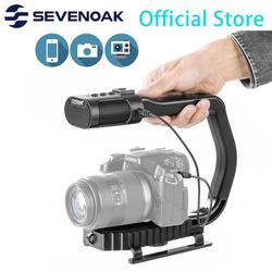 Newest Sevenoak Universal Video Handle Grip with Built-in Stereo Microphone for iPhone 11 Smartphone GoPro DSLR Camera Camcorder