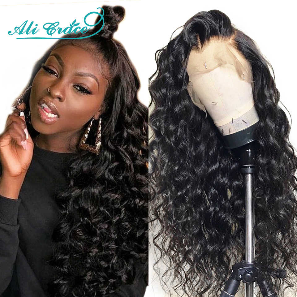 Ali Grace Hair Wig Brazilian Loose Wave Lace Front Wig 250% Density 360 Lace Frontal Loose Wave Wig Pre-plucked with Baby Hair