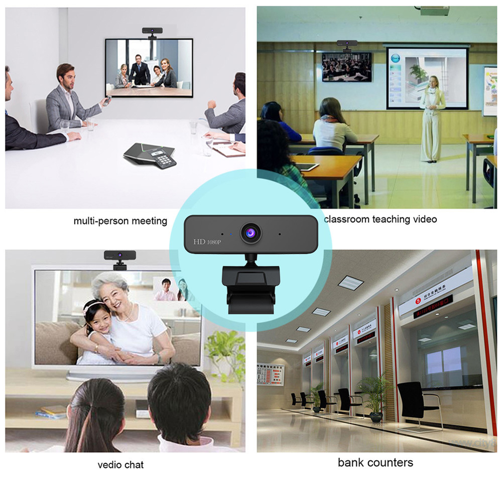 480P/720P/1080P USB Webcam for Video Calling/Recording with Auto White Balance/Color Correction 5