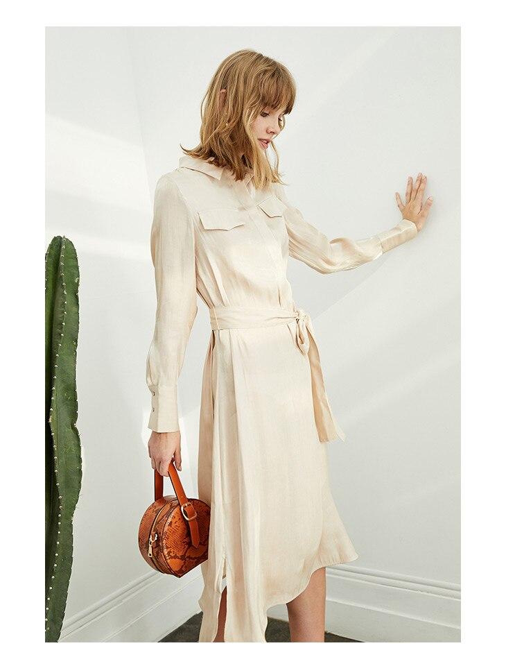 ONLY 19 Autumn Glossy Shirt Dress | 119307623 10