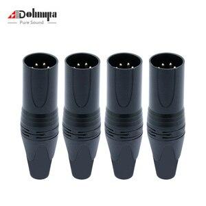 Ohmyta 4 шт. 4PIN штепсельная вилка XLR высококачественный динамик Микрофон Разъем питания припой с медная булавка позолоченная