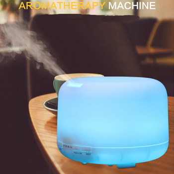500ML Humidifier 7 Color LED Aroma Essential Oil Diffuser Aromatherapy Atomizer Air Purifier Humidifier For Home Car cute mini bear shape usb humidifier air diffuser purifier atomizer led lamp cartoon humidifier for home bedroom