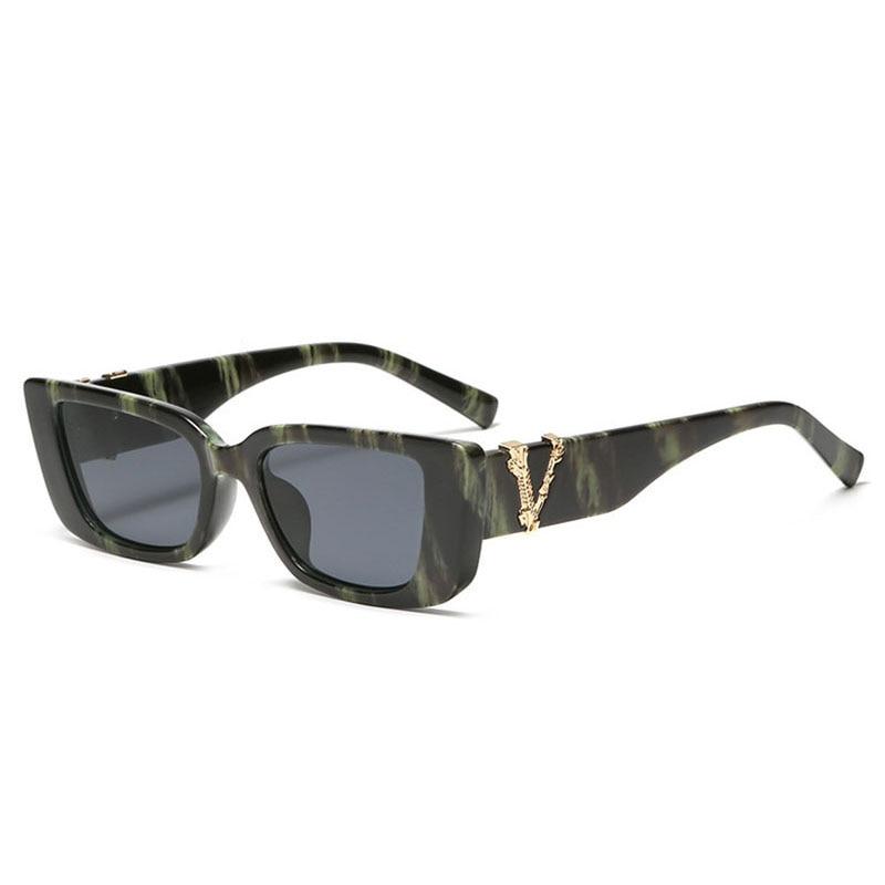 Retro Small Rectangle Sunglasses Candy Colors Gradient Sun Glasses Shades Uv400