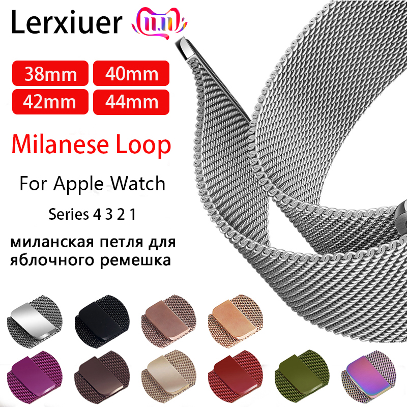 Milanese Loop For Apple Watch Band 44mm 40mm 4 5 Strap Iwatch 42mm 38mm Stainless Steel Bracelet Apple Watch 5 4 3 2 Accessories