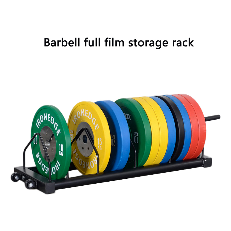 Barbell full film storage rack barbell piece gym cart barbell piece rack power zone removable rack barbell piece