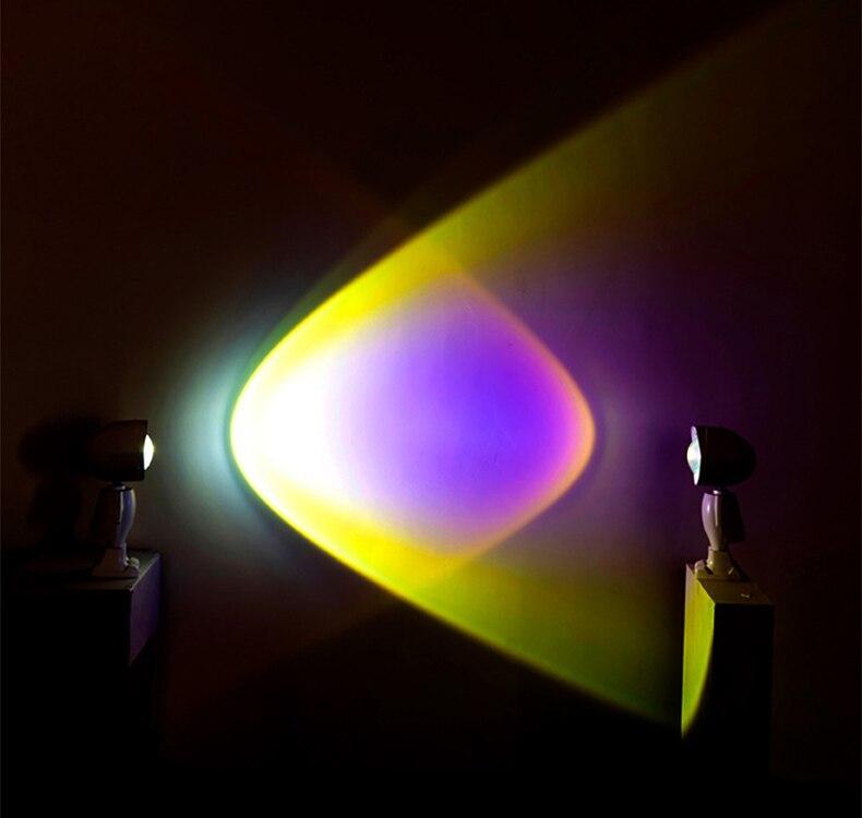 Usb 360 ° pôr do sol lâmpada