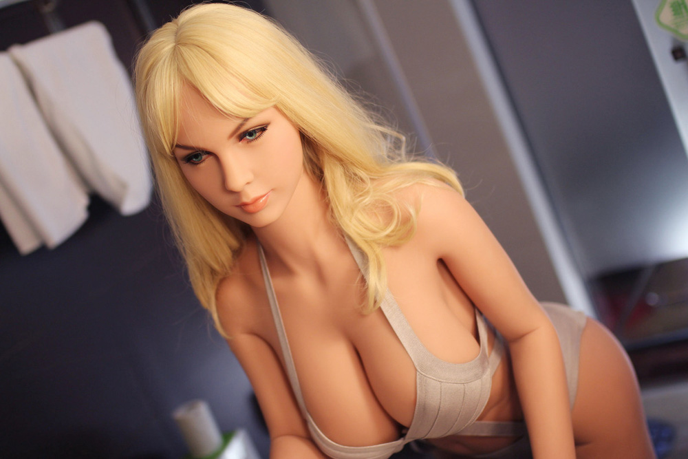 160CM-51# Sex Doll  Blonde Beautiful Sexy Woman Sex Robot Full TPE With Metal Skeleton Love Doll Men's Sex Toy Masturbation