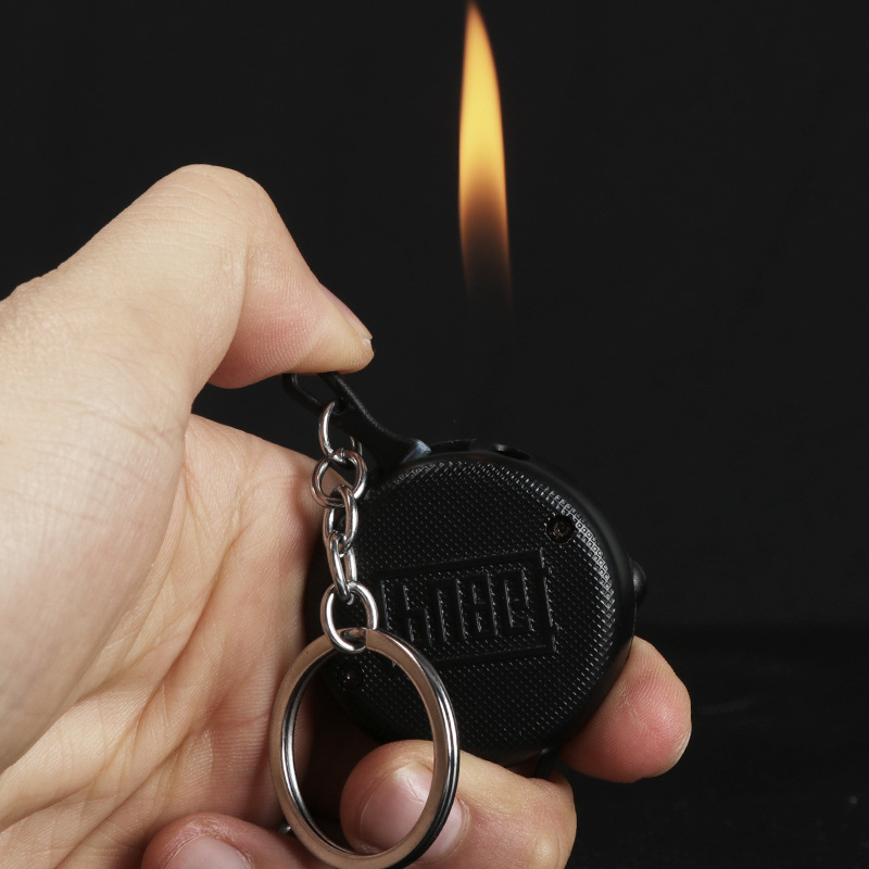 PUBG Pan Metal Mini Gas Lighter New Exotic Cigar Cigarettes Lighter Electronic Lighters Smoking Accessories Gadgets For Men