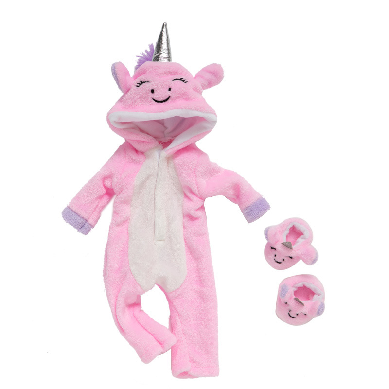 Baby new born for 18 inch 43cm baby creative horse pattern clothing accessories with shoes baby birthday Christmas gift 10