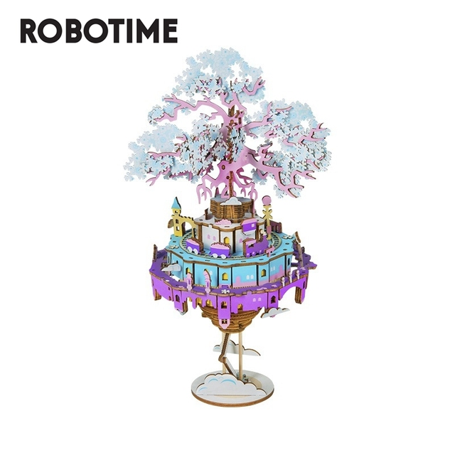 Robotime 2020 New Arrival 7 Kinds DIY 3D Puzzle Game Assembly Moveable Music Box Toy Gift for Children AdultOutdoor Fun & Sports