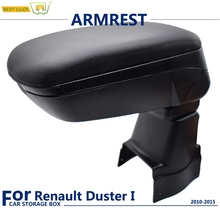 Black Boxed Armrest For Renault Duster 2010 - 2015 Content Console Soft Leather Terrano 2011 2012 2013 2014