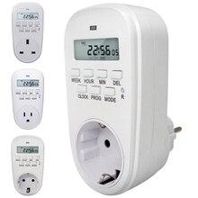 EU/US/UK Plug Timer Switch Energy Saving Digital Kitchen Timer Outlet Week Hour Adjustable Programmable Timing Socket