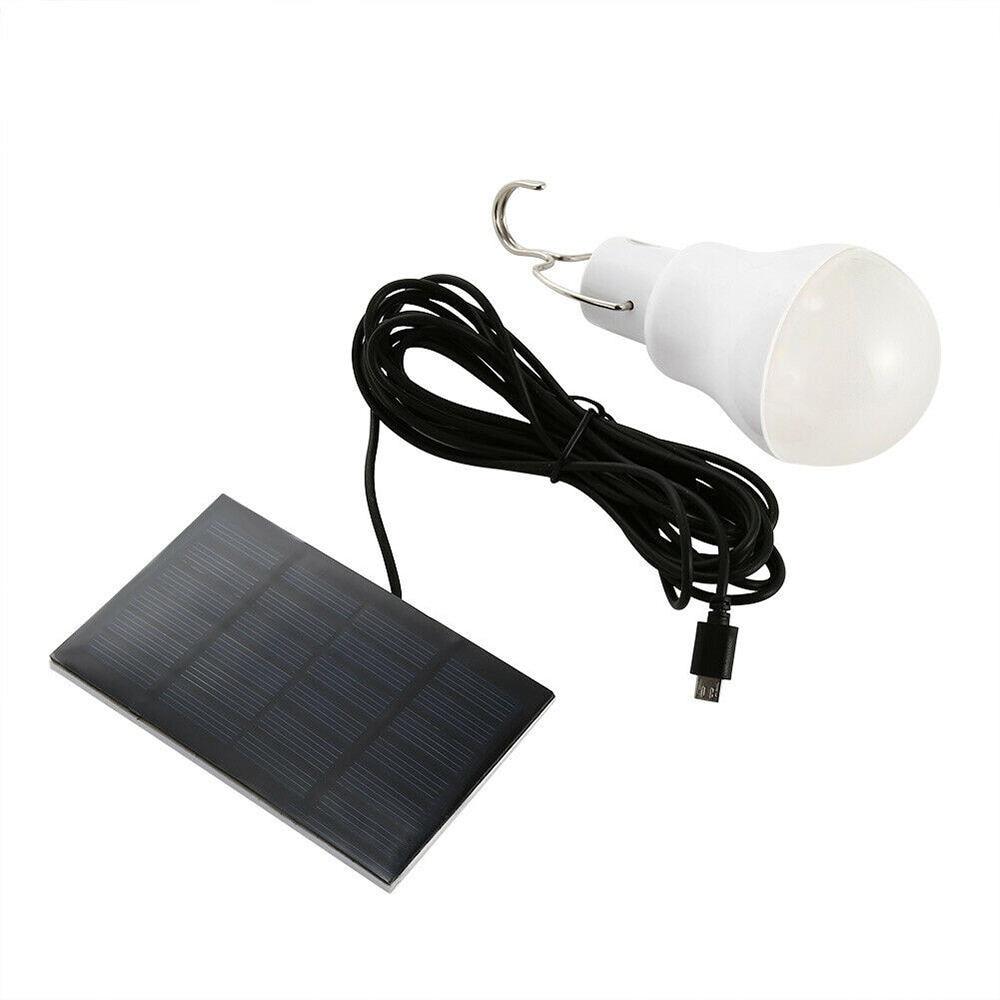 Outdoor LED Solar Power Light Rechargeable Portable Emergency Tent Lamp 15W Solar Bulb Panel Lighting (5 Sets Minimum Order)