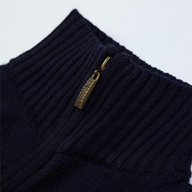 Solid Zipper Sweater Coat for Men Zipper Spring Winter Beige Coat Men Casual Long Sleeve Sweatshirts Male Jackets #2g15 (3)