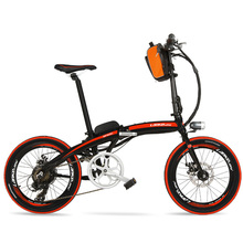 QF600 Портативный 20 дюймов складной Байк, способный преодолевать Броды, Алюминий сплав рама электрического велосипеда, 240 Вт мотор, как дисковые тормоза