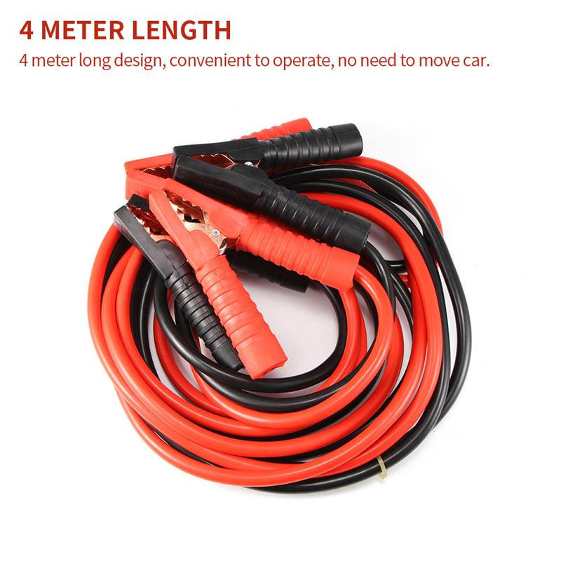 Car Battery Jumper Cable 4 Meters 2200A Heavy Duty Jump Leads Jumper Booster Cables