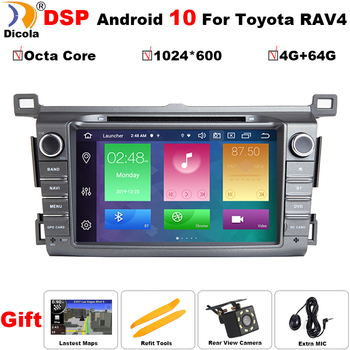 2 Din Android 10 DSP Car Multimedia DVD Player GPS For Toyota RAV4 Rav 4 2013-2018 Car Radio Octa Core GPS Navigation Wifi OBD image