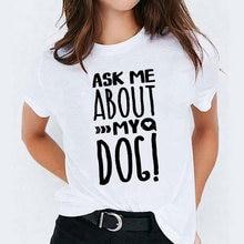 Harajuku футболка футболки для женщин Собака Мама леопарда плюшевые