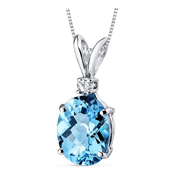 Huitan Novel Designed Women Necklace Oval Sky Blue Cubic Zirconia Unique Accessories for Party Fancy Gift Girl Statement Jewelry 2