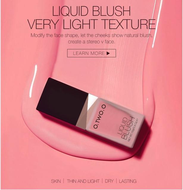 O.TWO.O Makeup Face Liquid Blusher Waterproof Long Lasting Lip liquid Natural Cheek Face Base Contour Blush Makeup 4