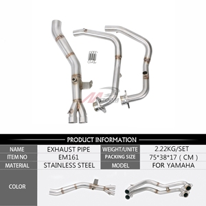Image 2 - Motorcycle Middle pipe Full System Exhaust Slip On For Yamaha MT03 MT 03 YZF R3 R25 YZF R3 YZF R25 2014 to 2018 without exhaust