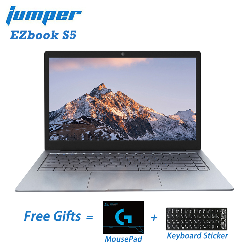 Jumper EZbook S5 14.0 Inch 8GB Ram 256GB SSD CPU N3450 1920*1080 FHD IPS 1.25KG Light 4600mAh Windows 10 Notebook Student Laptop