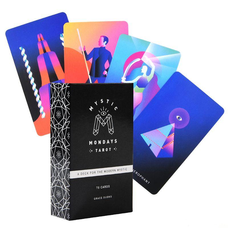 Mystic Mondays Tarot 78 Cards Tarot Deck English Prophet Tarot Cards Guidance Divination Fate Board Game Party Card Game