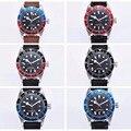 Роскошные часы топ бренда 41 мм Corgeut Robot часы сапфир GMT автоматические военные спортивные часы с календарем кожа