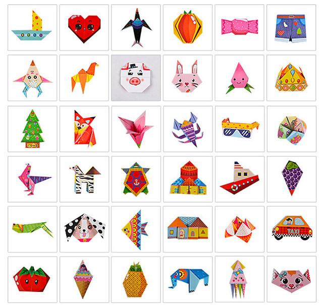152Pcs/set DIY Educational Origami Paper Cutting Book Crafts Children Handmade Toys Kindergarten Fun Puzzle Baby Kids Toy Gifts 2