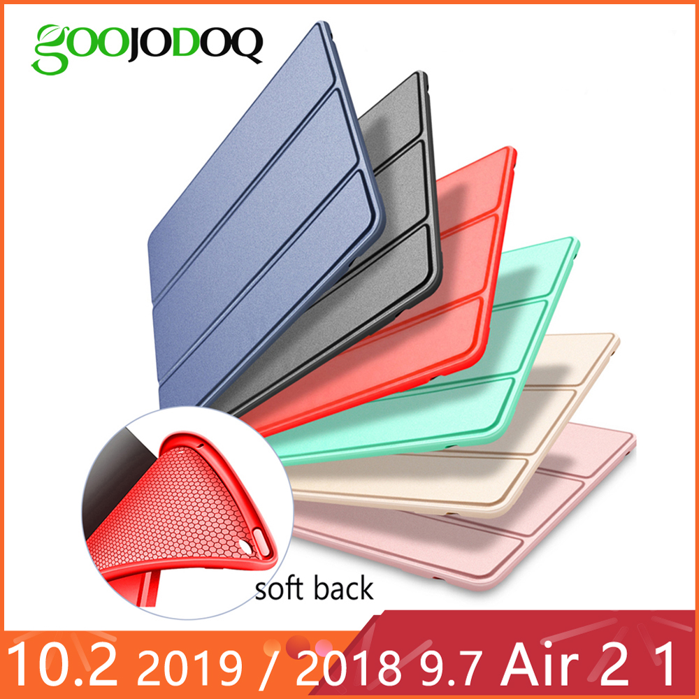 For iPad Air 2 Air 1 Case 2018 9.7 Funda Silicone Soft Back 2017 Pu Leather Smart Case for iPad 6th generation Case 10.2'' 2019