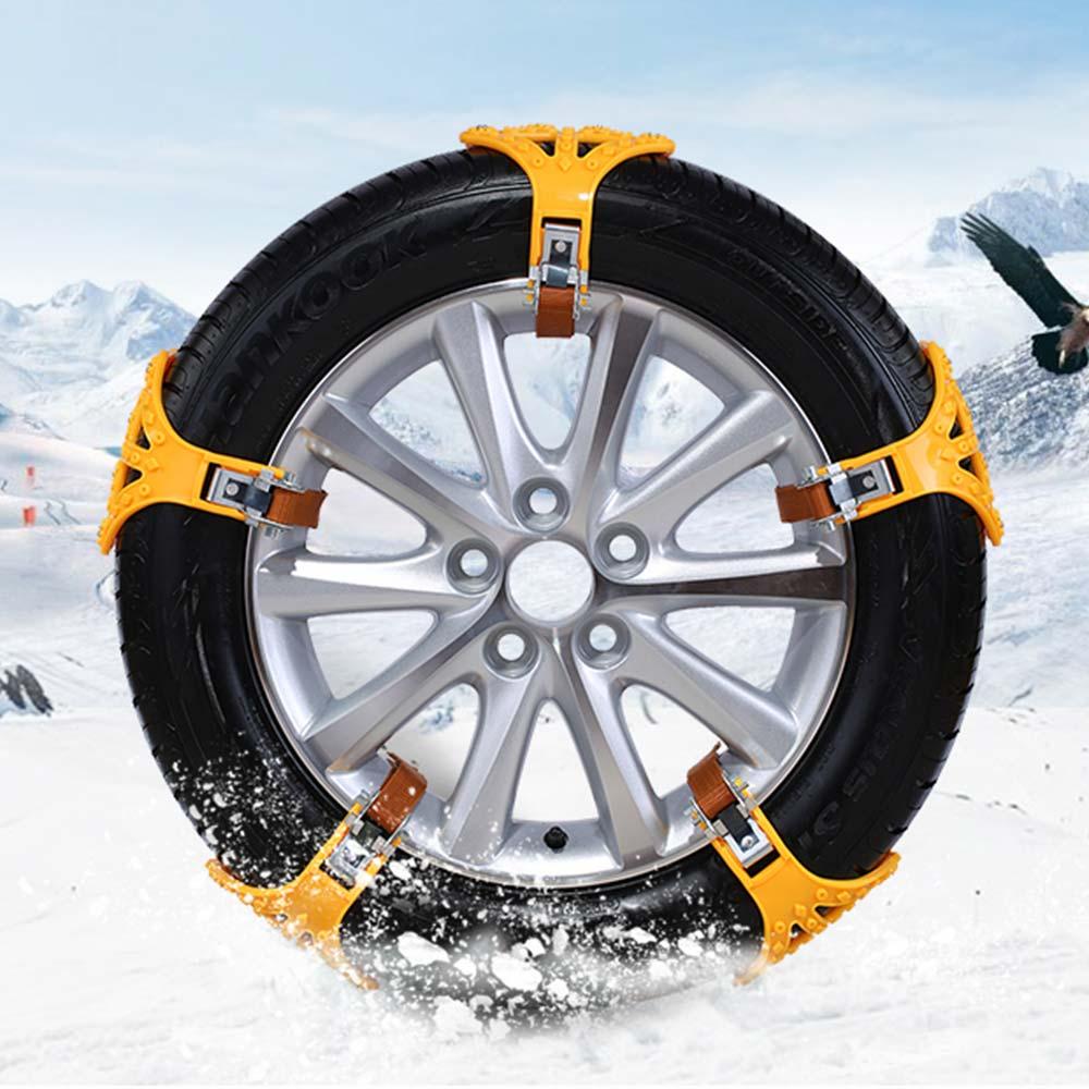 Vehemo 4 pièces chaîne à neige chaîne antidérapante chaîne à neige voiture TPU chaînes antidérapantes universelles sangle camion sécurité d'hiver