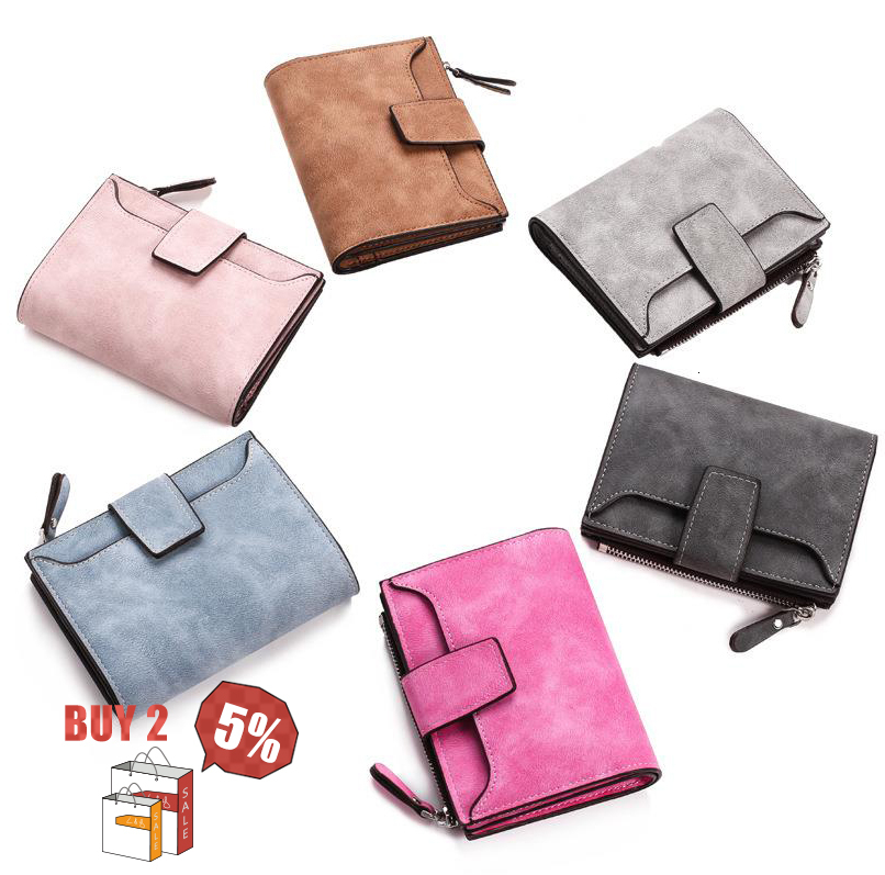 Women's Wallet Hasp Small And Slim Coin Pocket Purse Luxury Brand Bag Designer Wallet Card Short Women Wallets Carteira Feminina