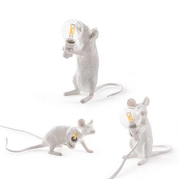 3 style żywica lampa mysz krajem ameryki indywidualna kreatywna sypialnia nocna gabinet dekoracja biurka mała lampa stołowa myszy tanie i dobre opinie Lux vitae mouse lamp desk lamp Przełącznik Wciskany None Shadeless Żywica reading room ceramic Nowoczesne Żarówki led