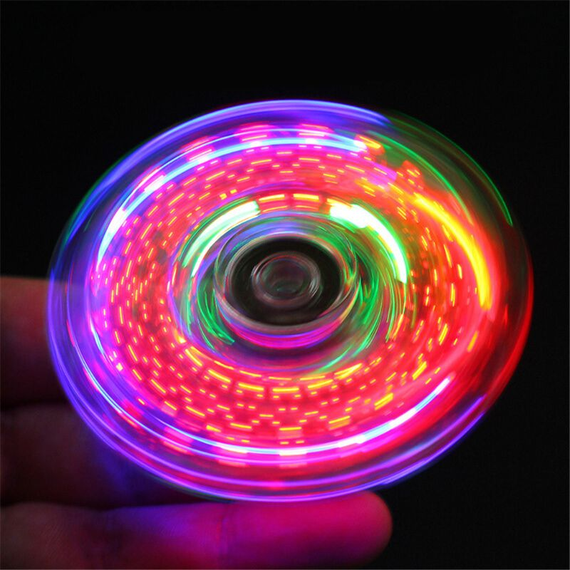Relief-Toys Spinners Hand-Top Edc Stress Glow-In-Dark Luminous LED Changes Multiple Novelty img2