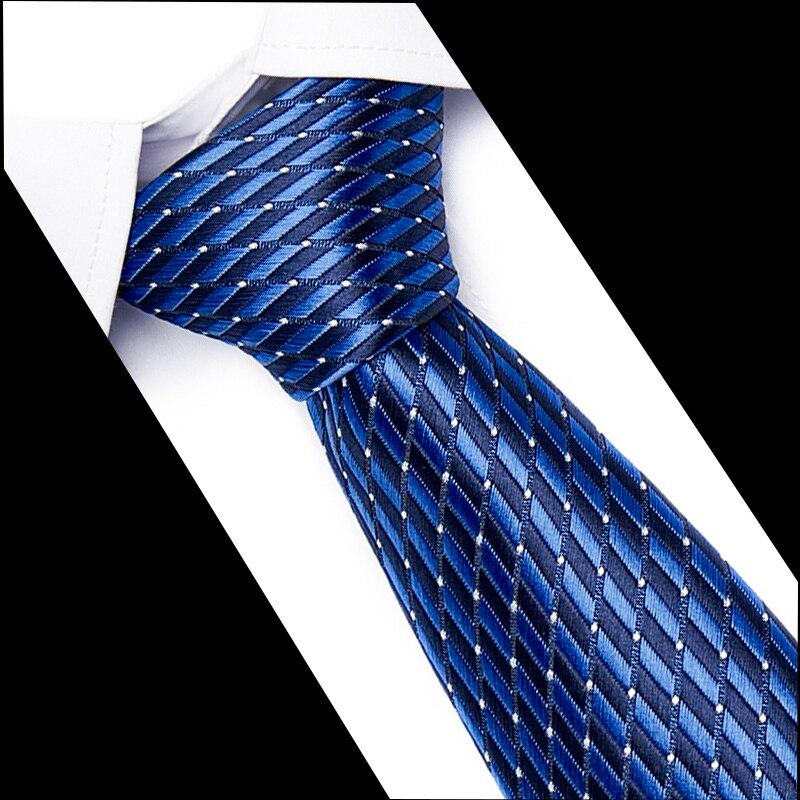 Men's 7.5 Cm Fashion For Men Formal Business Suit White Blue Ties Striped Tie Yellow 100% Silk Necktie Red Wedding Neck Tie