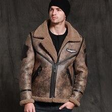 SANI Новинка джунгли коричневая овчина Мужская Зимняя Толстая теплая овчина пальто высшего качества кожа натуральная одежда тонкая Меховая куртка