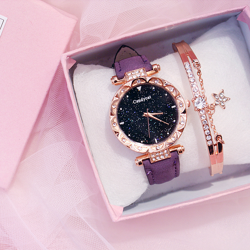 2020 Women Watch Star Bracelet For Girls New Fashion Wristwatches For Woman Trend Clock For Young Lady Relogio Feminino Hodinky