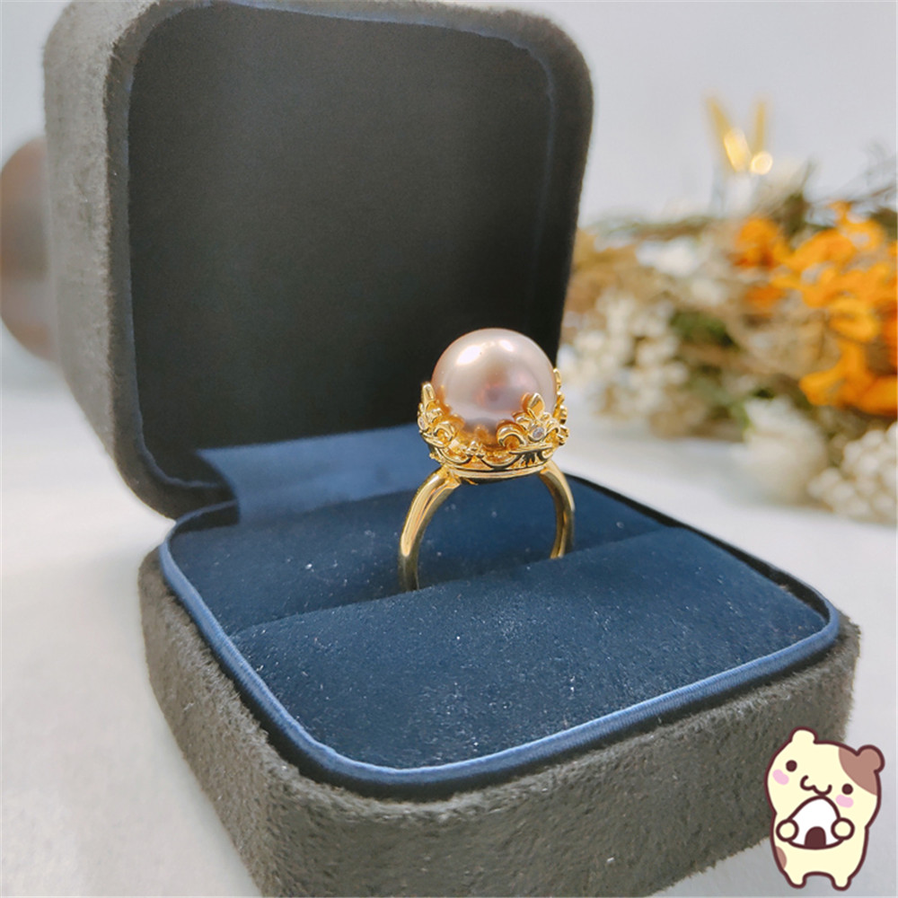 Unique Shaped Pearl Ring Settings, Fashionable Ring Findings, Adjustable Size 925 Silver Ring Jewelry DIY Making No Pearl