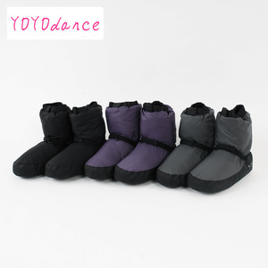 Image 5 - Professional Ballet Warm ups For Women  Pointe Dance Shoes Soft  Boots Protection Foot Warm  Ballerina Booties