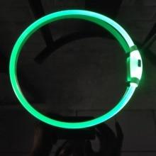 DOGLED Collar Light USB Rechargeable Glowing Dog Collars Luminous Pet Flash Night Charging for Small Medium Large