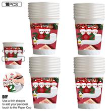 Paper-Cups Disposable Christmas-Party-Supplies 9oz 10pcs Family Winter