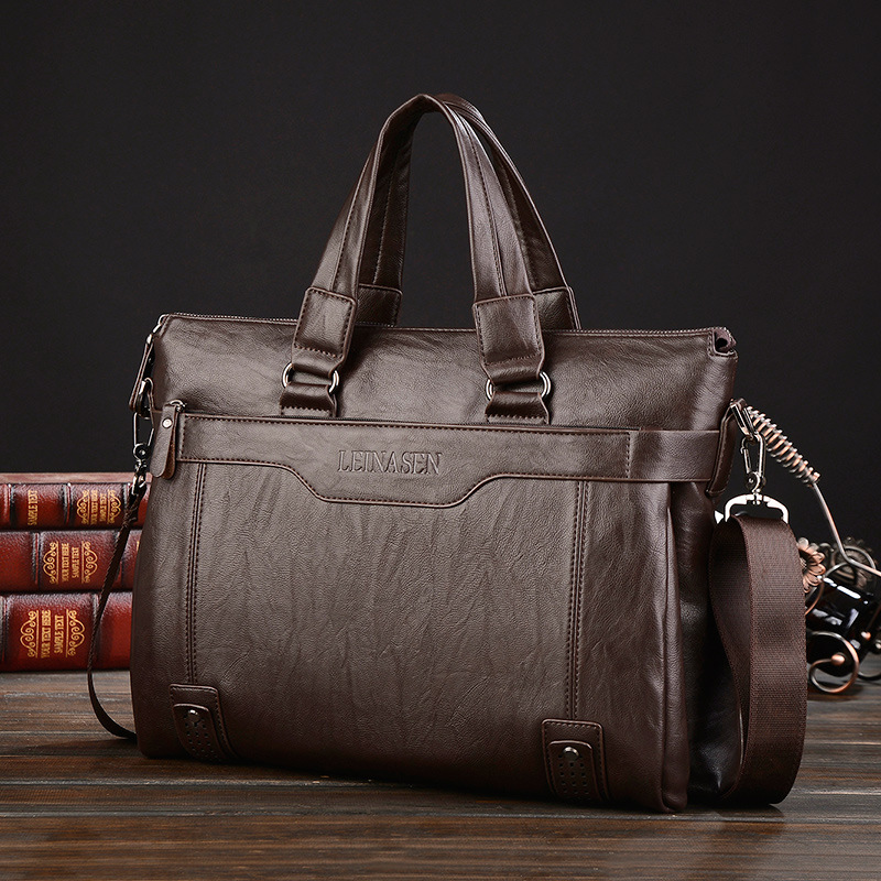 2020 New Men Briefcase High Quality Fashion Men's Bag PU Leather Men Bags Business Brand Male Briefcases Handbags Laptop Bag