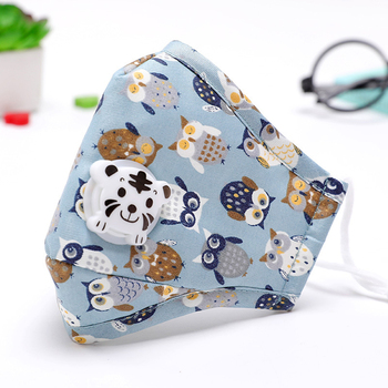 Kids PM2.5 Washable Mouth Mask With Valve Children Anti Haze Anti  Dust Mask Nose Filter Face Muffle Bacteria Flu Respirator