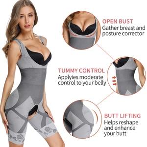 Image 3 - נשים מלא גוף Shaper מותן מאמן בטן Shaper הרזיה Faja גבוהה מותן בגד גוף Shapewear חלק בקרת חגורת מחוך