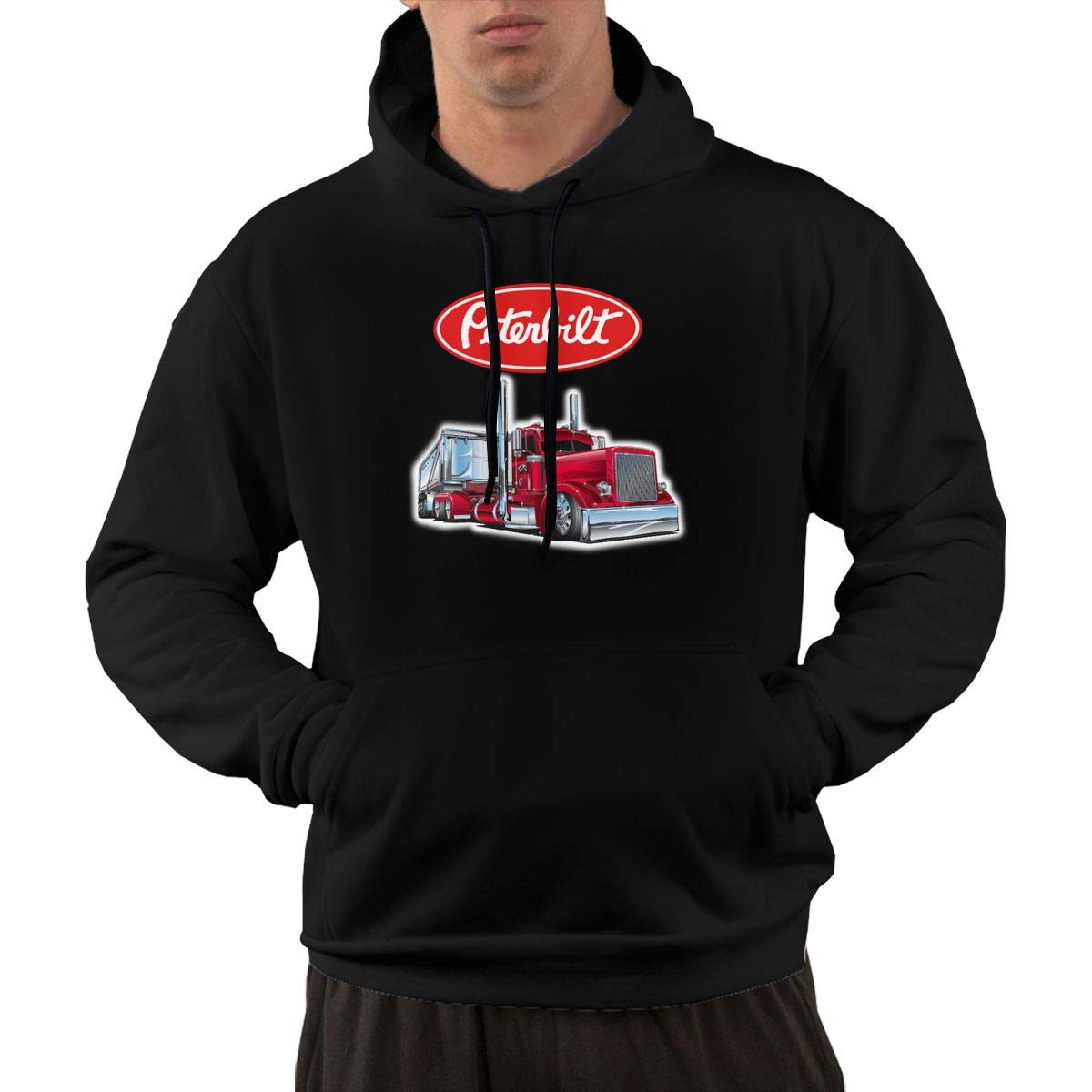 IOBZXZWRYM Peterbilt Truck Men Soft Hoodies Winter Summer Coat Streetwear Gym Jogger Hoodies Sweatshirts