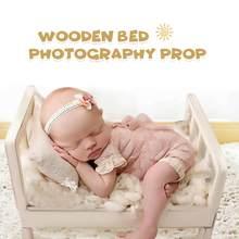 Adereços para fotografia de madeira cama recém-nascido posando fotografia foto cama berço adereços atirar posando sofá