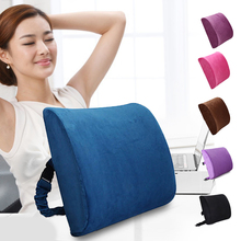 Memory Foam Cushion Waist Back Support Portable Breathable Ergonomic for Car Office MU8669