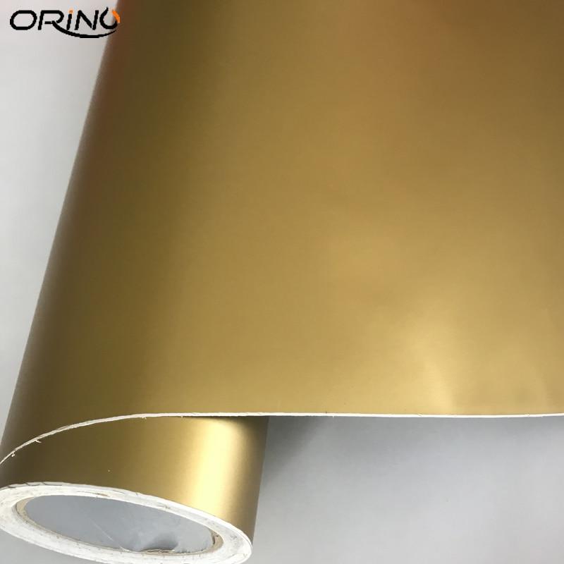 Самоклеящаяся виниловая самоклеящаяся пленка из ПВХ золотого цвета для оформления автомобиля своими руками